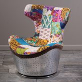 Christopher Knight Home Frazier Patchwork Fabric Swivel Chair