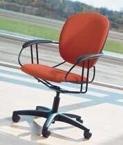 Steelcase Uno Task Chair Upholstery Color: Buzz2 - Blue, Casters/Glides: Standard Glides