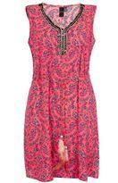 Quiz Pink Paisley Print Feather Tunic Dress