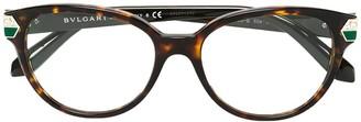 Bvlgari Round Frame Glasses