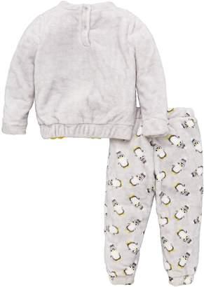 Very Penguin Fleece Christmas Pyjamas - Grey