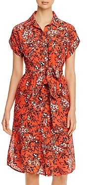 Yumi Kim Signature Silk Printed Shirt Dress
