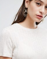 Asos Limited Edition Chain Wrapped Hoop Earrings