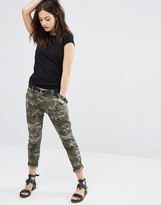 Only Camo Skinny Pants with Ripped Detail