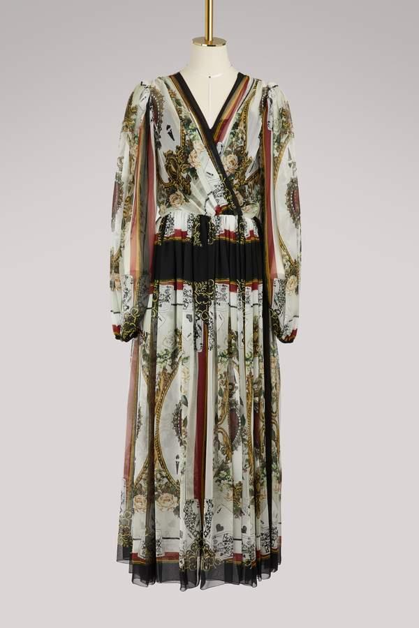Dolce & Gabbana Cards midi dress
