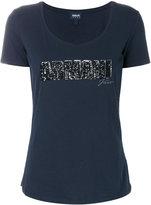 Armani Jeans sequin logo patch T-shirt