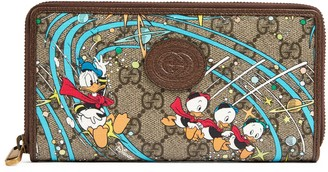 Gucci Disney x Donald Duck zip around wallet