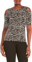 Vince Camuto Petite Printed Cold Shoulder Top