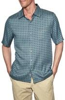 Nat Nast 'Harley' Regular Fit Diamond Print Silk Camp Shirt