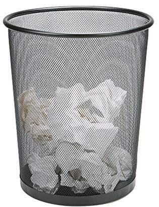 Mind Reader 1CIRGA-BLK Garbage Waste Basket Recycling Bin Set