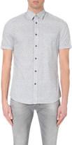 Diesel S-palms leaf-print cotton shirt
