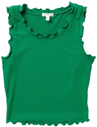 Abound Lettuce Edge Ribbed Crop Tank