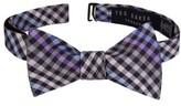 Ted Baker Men's Gingham Silk Bow Tie