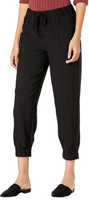 Madewell Front Seam Track Trousers (True Black) Women's Casual Pants