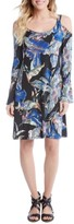 Karen Kane Women's Cold Shoulder Bell Sleeve Shift Dress