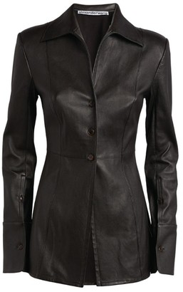 Alexander Wang Longline Leather Jacket