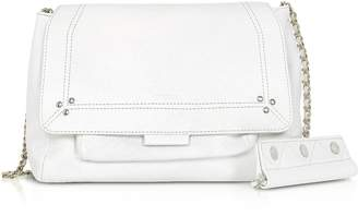 Jerome Dreyfuss Lulu M White Leather Shoulder Bag