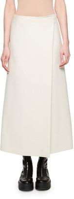 The Row Saio Wool-Silk Wrap Skirt