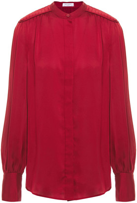Equipment Garion Pleated Satin Blouse