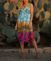 Ananda's Collection Women's Maxi Dresses green - printed multi color long dress - Women