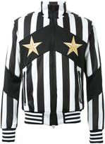 Dresscamp striped zipped sweatshirt