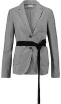 Brunello Cucinelli Houndstooth Wool And Linen-Blend Jacket
