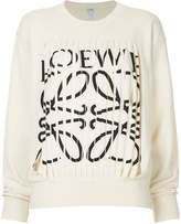 Loewe cashmere cut out logo sweater