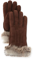 UGG Classic Heritage Toscana Gloves, Chocolate