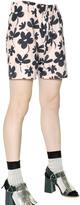 Marni Floral Cotton Poplin Shorts