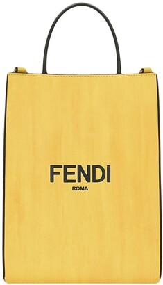 Fendi Small Logo Print Shopping Bag