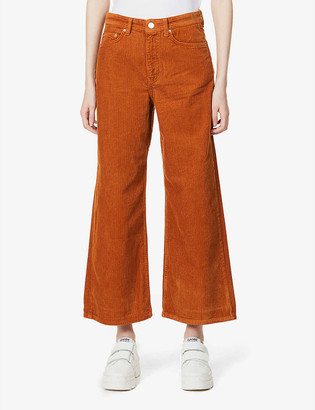 Won Hundred Kiri straight-leg mid-rise cotton-corduroy trousers