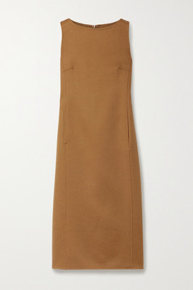 Max Mara Dumbo Wool Midi Dress - Light brown