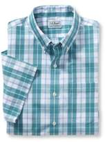 L.L. Bean Men's Wrinkle-Free Acadia Sport Shirt, Slightly Fitted Short-Sleeve Plaid