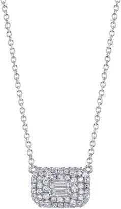 Shay Baguette Diamond Pave Pendant Necklace
