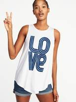Old Navy High-Neck Graphic Swing Tank for Women