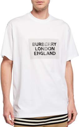 Burberry Men's Oversize London England Logo T-Shirt