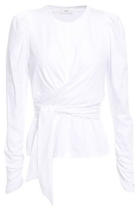 A.L.C. Belted Cotton-jersey Top