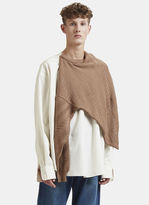 Hed Mayner Sweater Knit Shirt in Brown