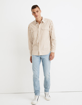Madewell Long-Sleeve Easy Camp Shirt in McNeil Stripe
