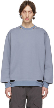 N.Hoolywood Blue Cut Sweatshirt