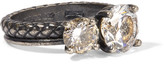 Bottega Veneta Oxidized Silver Cubic Zirconia Ring - 11