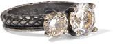 Bottega Veneta Oxidized Silver Cubic Zirconia Ring - 13