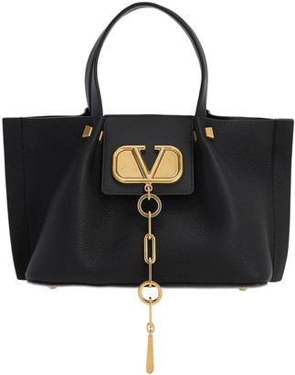 Valentino Garavani Small Vlogo Escape Grained Leather Bag