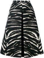 Rochas fur detailed midi skirt