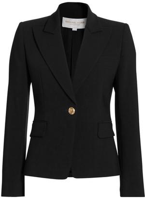 Michael Kors One-Button Wool-Blend Blazer