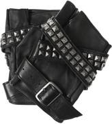Karl Lagerfeld Avery studded leather fingerless gloves