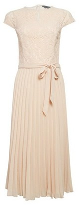 Dorothy Perkins Womens Pleated Alice Lace Midi Dress