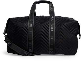 BOSS Chevron Pattern Holdall Bag