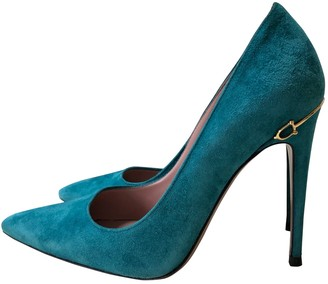 Gucci Turquoise Suede Heels