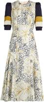 Roksanda Thalia wood-flora print silk midi dress